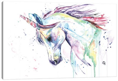 Kenzie's Unicorn Canvas Art Print
