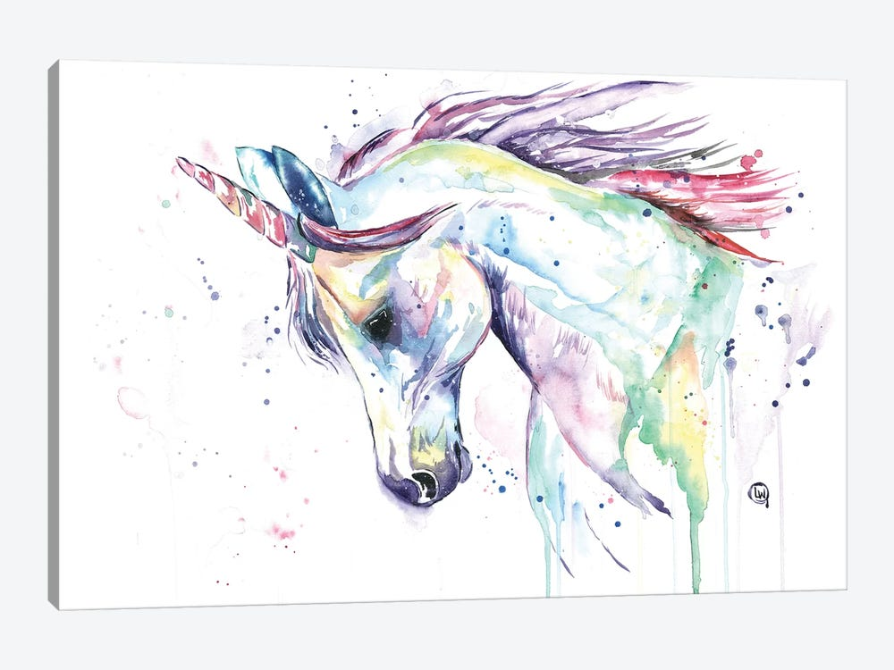 Kenzie's Unicorn by Lisa Whitehouse 1-piece Canvas Artwork
