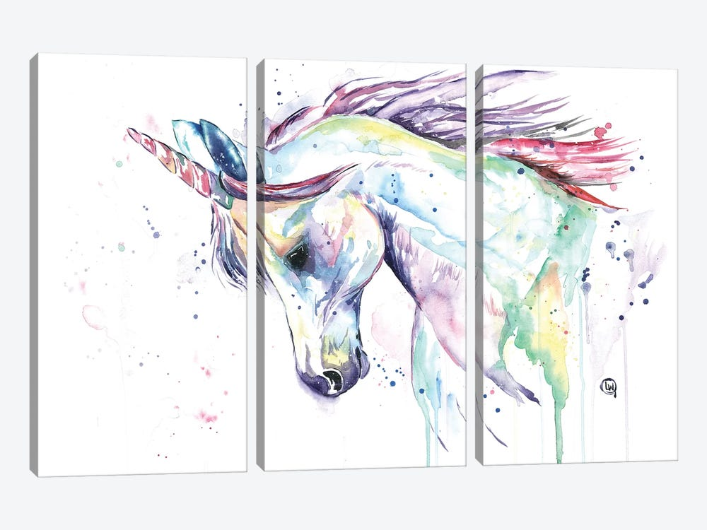 Kenzie's Unicorn by Lisa Whitehouse 3-piece Canvas Wall Art