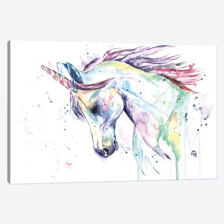 Kenzie's Unicorn Canvas Print #LWH56} by Lisa Whitehouse Canvas Wall Art