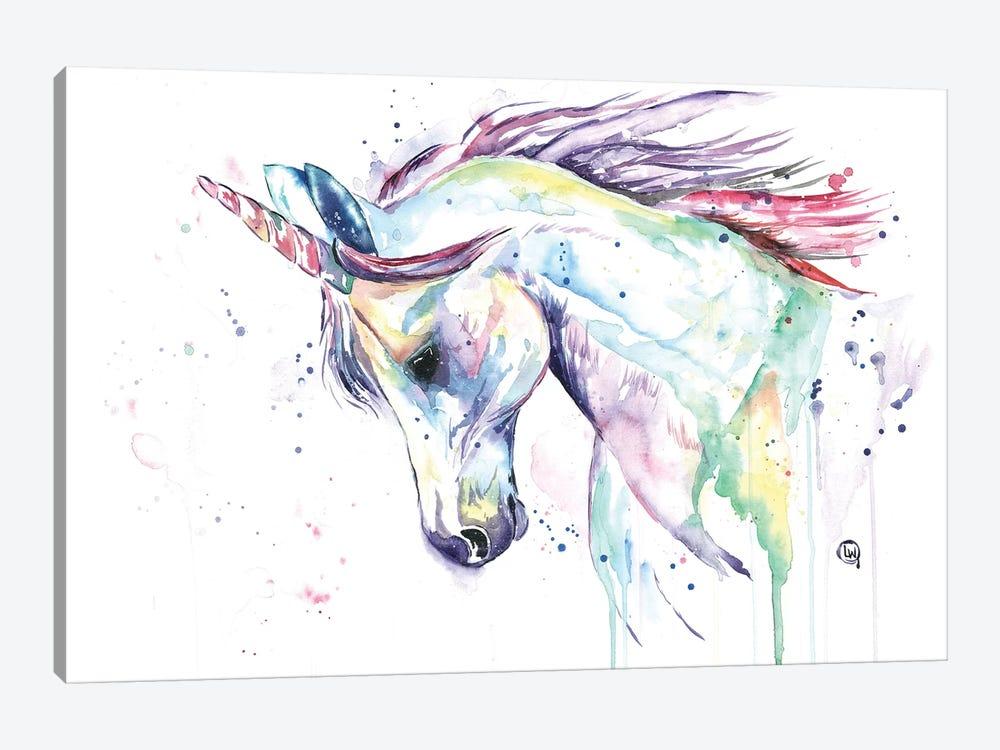 Kenzie's Unicorn by Lisa Whitehouse 1-piece Canvas Artwork