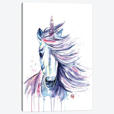Unicorn Canvas Print #LWH58} by Lisa Whitehouse Canvas Print