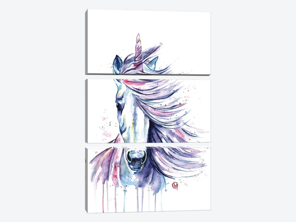 Unicorn by Lisa Whitehouse 3-piece Canvas Artwork