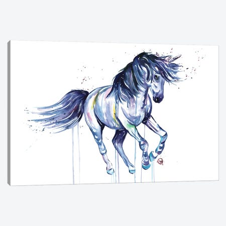 Unicorn Dreams Canvas Print #LWH59} by Lisa Whitehouse Canvas Art Print