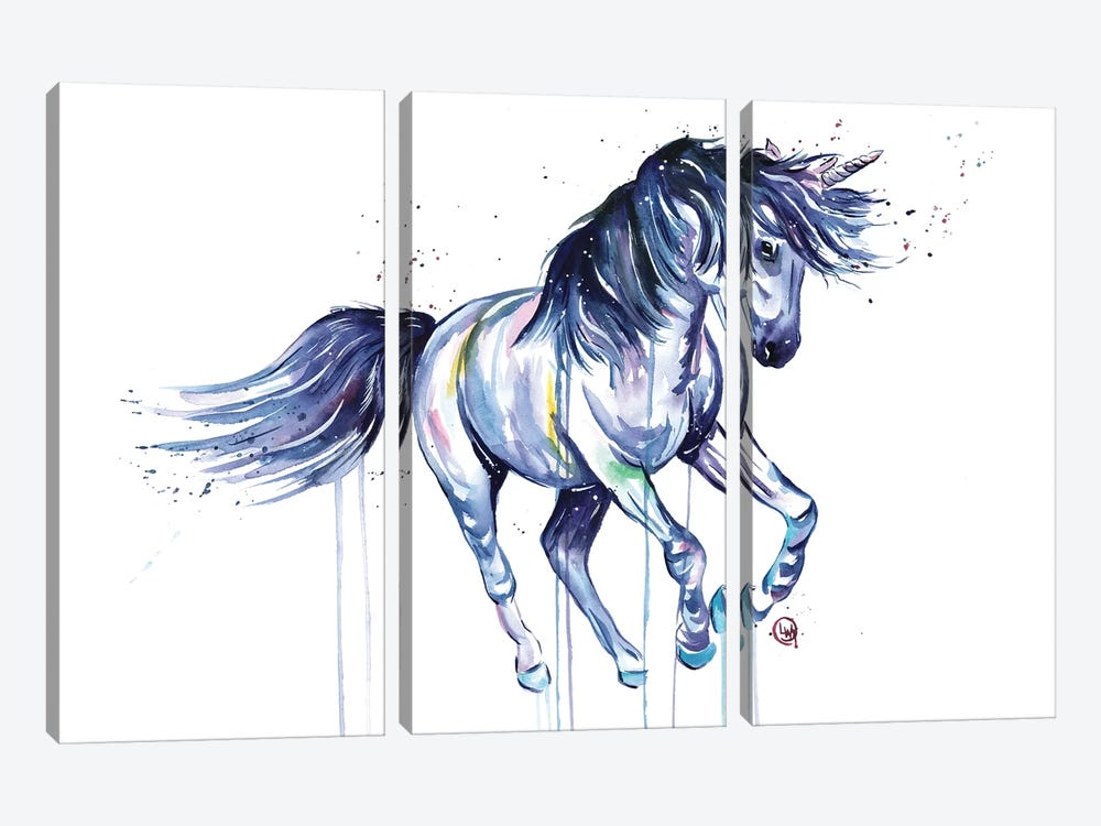Unicorn Dreams by Lisa Whitehouse 3-piece Canvas Art Print