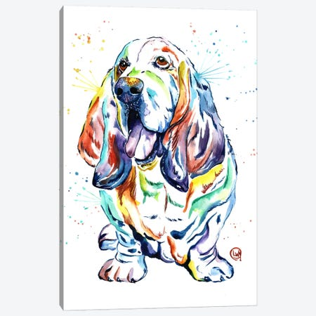 Basset Hound Baily Canvas Print #LWH5} by Lisa Whitehouse Canvas Print