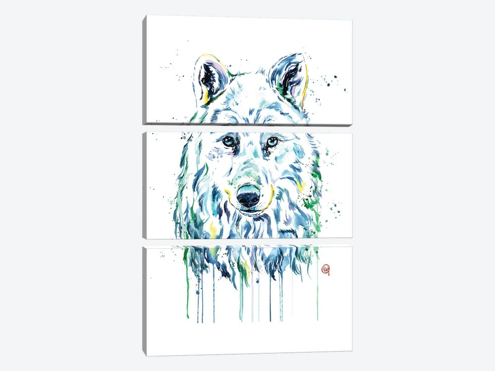 Wolf by Lisa Whitehouse 3-piece Canvas Print