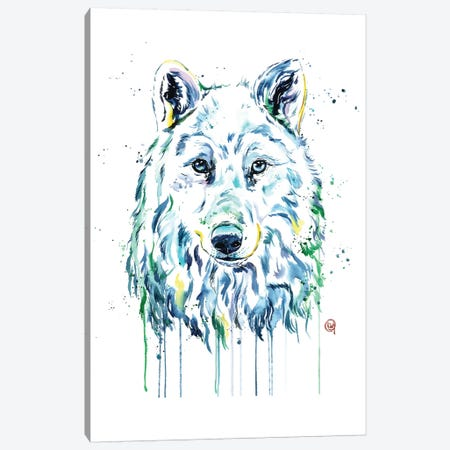 Wolf Canvas Print #LWH60} by Lisa Whitehouse Canvas Art