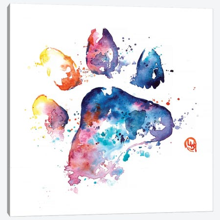 A Paw To Remember Canvas Print #LWH61} by Lisa Whitehouse Canvas Art