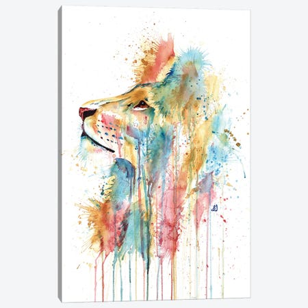 Aslan The Lion Canvas Print #LWH62} by Lisa Whitehouse Canvas Artwork
