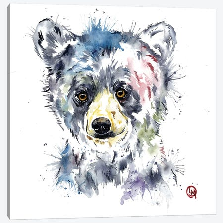 Baby Black Bear Canvas Print #LWH63} by Lisa Whitehouse Canvas Artwork