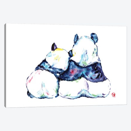 Better Together - Pandas Canvas Print #LWH64} by Lisa Whitehouse Canvas Art Print