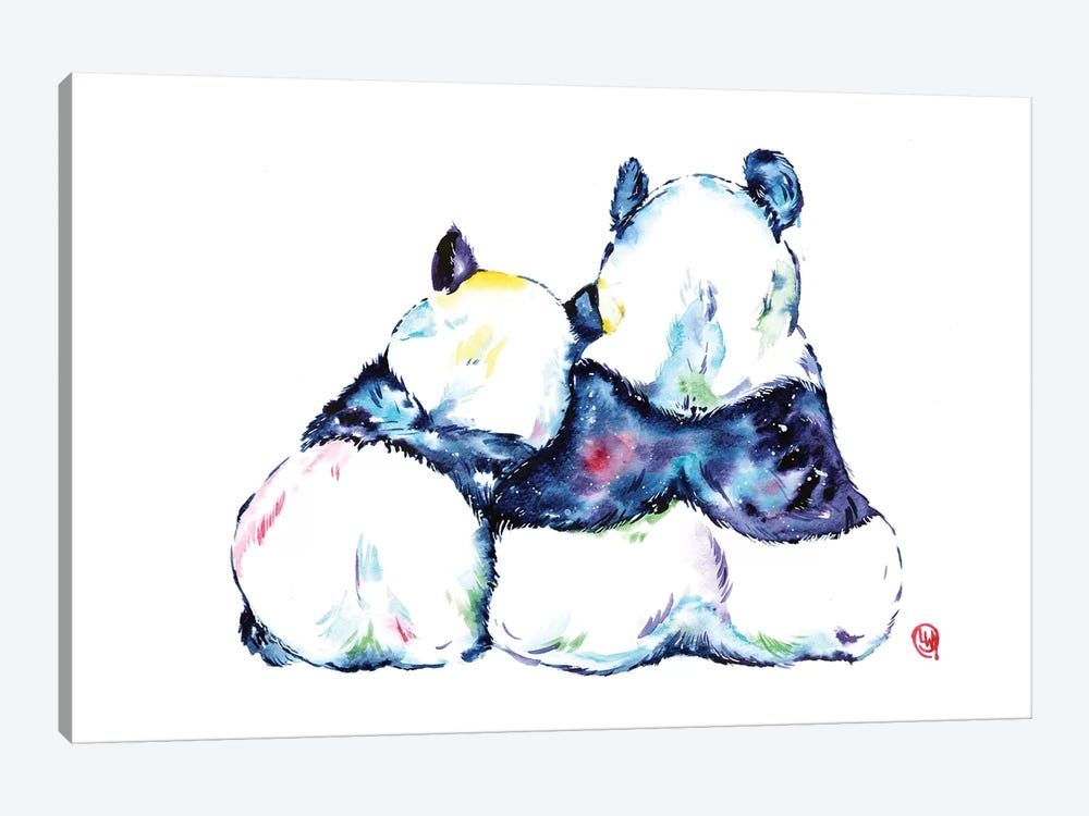 Better Together - Pandas by Lisa Whitehouse 1-piece Canvas Print