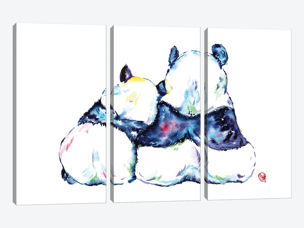Better Together - Pandas by Lisa Whitehouse 3-piece Canvas Art Print