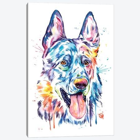 Black German Shepherd Canvas Print #LWH65} by Lisa Whitehouse Canvas Print