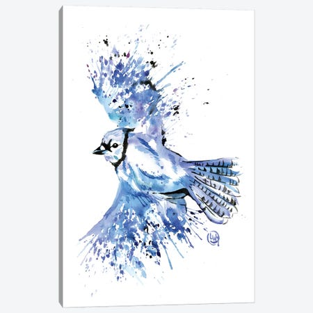 Bluetiful - Blue Jay Canvas Print #LWH66} by Lisa Whitehouse Canvas Art Print