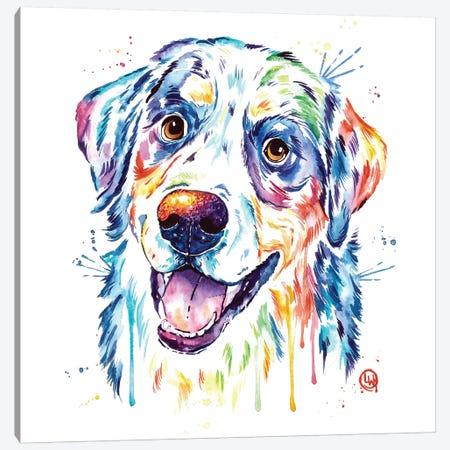 Burnese Mountain Dog Canvas Print #LWH67} by Lisa Whitehouse Canvas Print