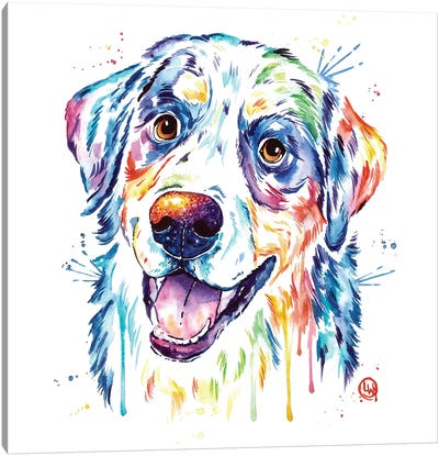 Burnese Mountain Dog Canvas Art Print