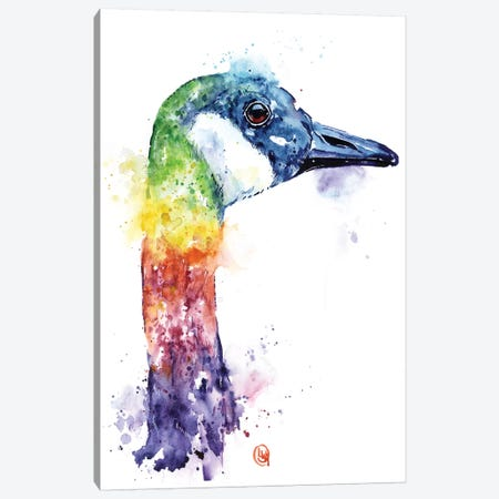 Colorful Canada Goose Canvas Print #LWH68} by Lisa Whitehouse Canvas Artwork