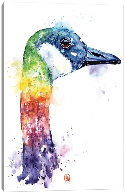 Colorful Canada Goose Canvas Art Print