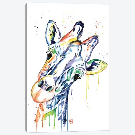Curious Giraffe Canvas Print #LWH69} by Lisa Whitehouse Canvas Artwork