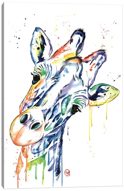 Curious Giraffe Canvas Art Print
