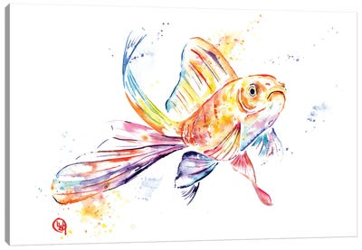 Frank The Frowner Goldfish Canvas Art Print