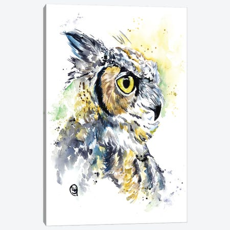 Horned Owl Canvas Print #LWH71} by Lisa Whitehouse Canvas Print