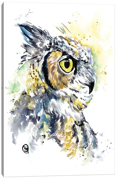 Horned Owl Canvas Art Print
