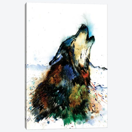 Howling Wolf Canvas Print #LWH72} by Lisa Whitehouse Canvas Print