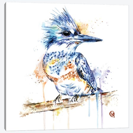 Kingfisher Canvas Print #LWH73} by Lisa Whitehouse Canvas Print