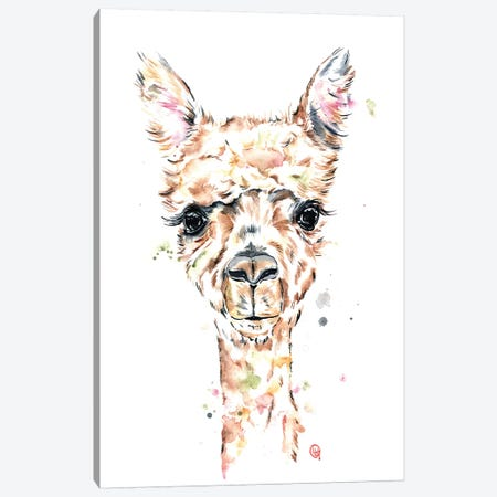 Llama Llama Canvas Print #LWH74} by Lisa Whitehouse Canvas Artwork