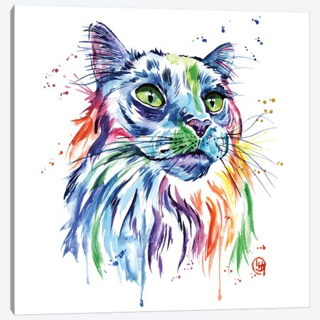 Maine Coon Cat Canvas Print #LWH75} by Lisa Whitehouse Canvas Art