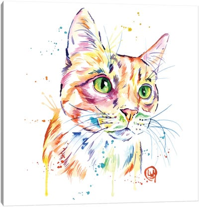 Orange Tabby Cat Canvas Art Print