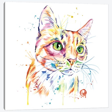 Orange Tabby Cat Canvas Print #LWH76} by Lisa Whitehouse Canvas Artwork