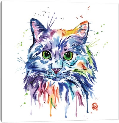 Rainbow Kitty Canvas Art Print