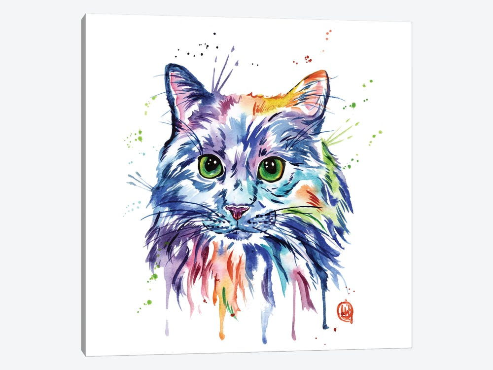 Rainbow Kitty by Lisa Whitehouse 1-piece Canvas Artwork