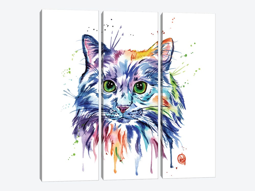 Rainbow Kitty by Lisa Whitehouse 3-piece Canvas Artwork