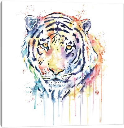 Rainbow Tiger Canvas Art Print