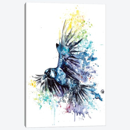 Raven Canvas Print #LWH80} by Lisa Whitehouse Canvas Wall Art