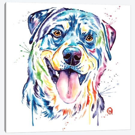 Rottweiler Canvas Print #LWH81} by Lisa Whitehouse Canvas Wall Art