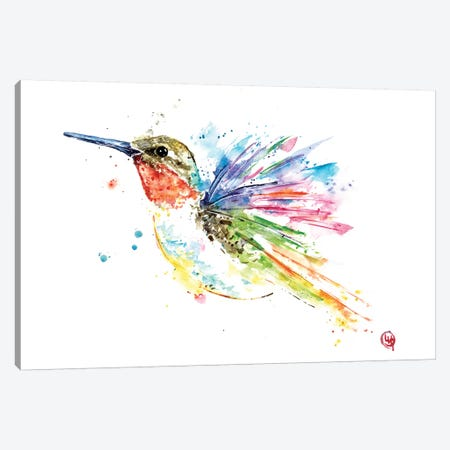 Ruby Hummingbird Canvas Print #LWH82} by Lisa Whitehouse Canvas Wall Art