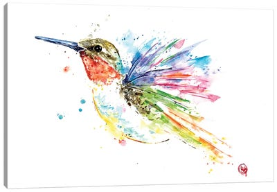 Ruby Hummingbird Canvas Art Print