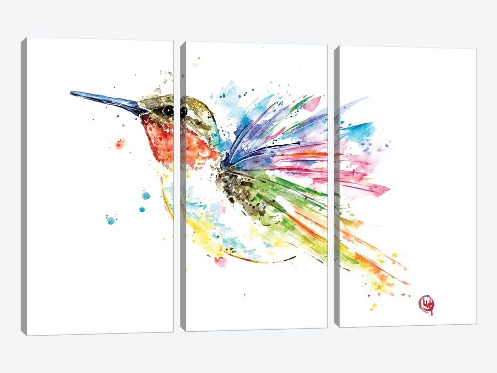 Ruby Hummingbird by Lisa Whitehouse 3-piece Art Print