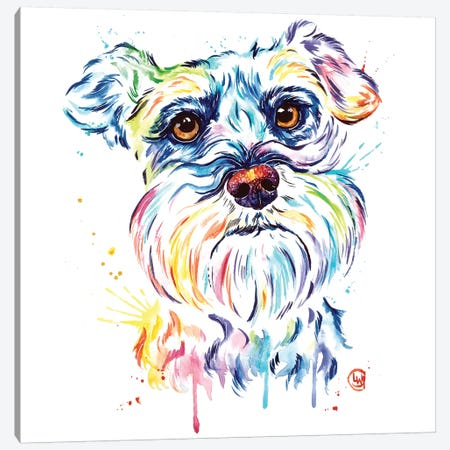 Schnauzer Canvas Print #LWH83} by Lisa Whitehouse Canvas Wall Art