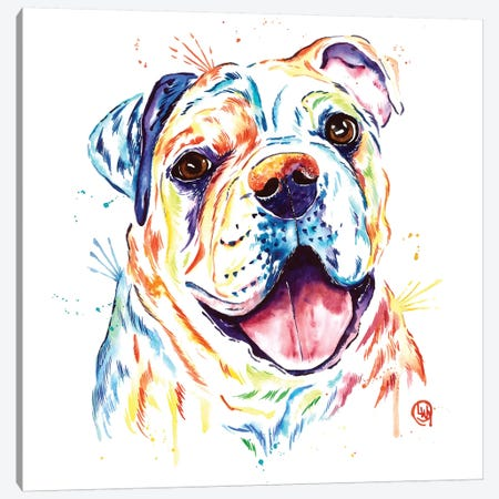 Shelby Rue The Bulldog Canvas Print #LWH84} by Lisa Whitehouse Canvas Art Print