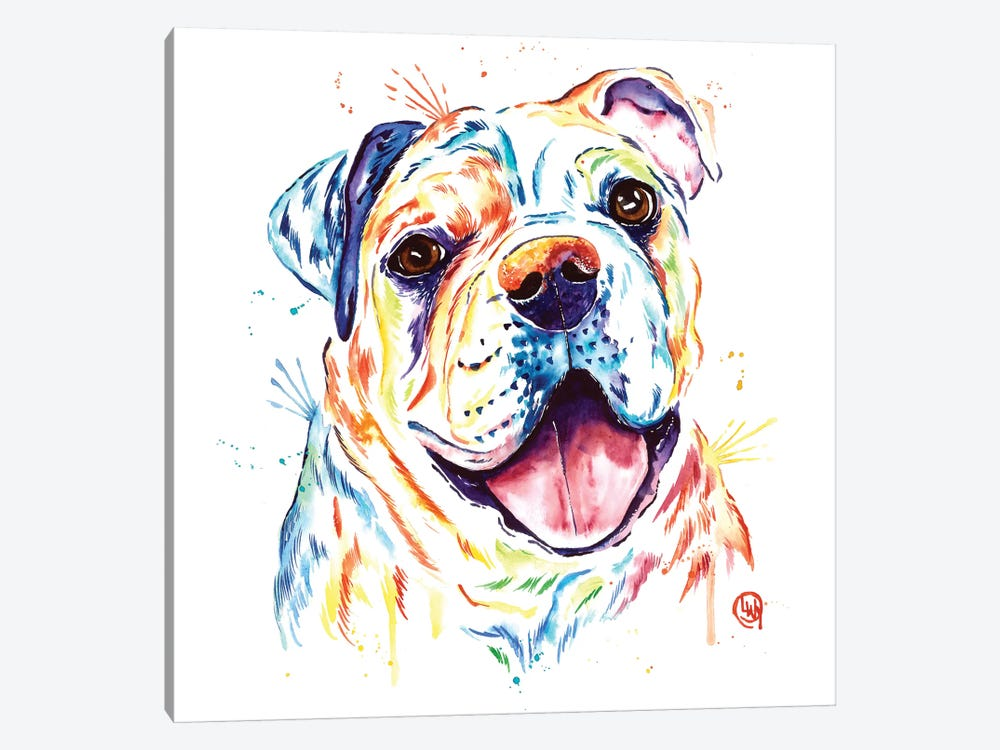 Shelby Rue The Bulldog by Lisa Whitehouse 1-piece Canvas Print