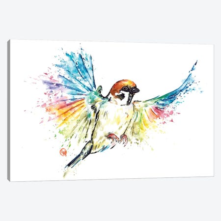 Sparrow Canvas Print #LWH85} by Lisa Whitehouse Canvas Print