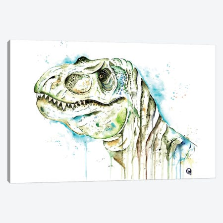 Tom The T-Rex Canvas Print #LWH87} by Lisa Whitehouse Art Print