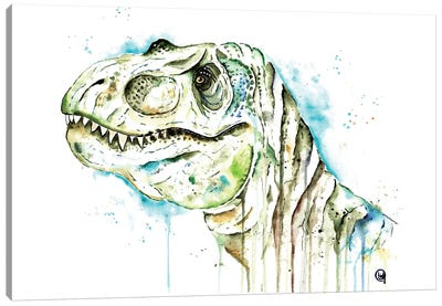 Tom The T-Rex Canvas Art Print
